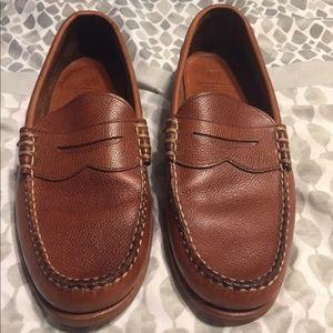 Allen Edmonds size 11 D tan grain penny loafer